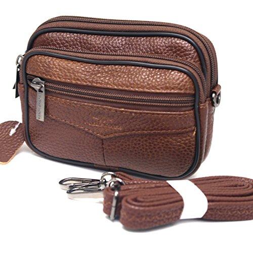 Small Bag Waist Pack Messenger Bags Tactical Cellphone Phone Pouch Bum Leather (Bum Bum Trousers)