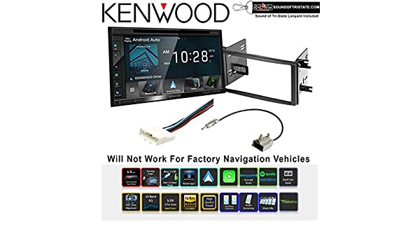 SiriusXM Fits 2008-2012 Honda Accord Dark Atlas Grey Kenwood DDX276BT Double Din Radio Install Kit With 6.2 Touchscreen