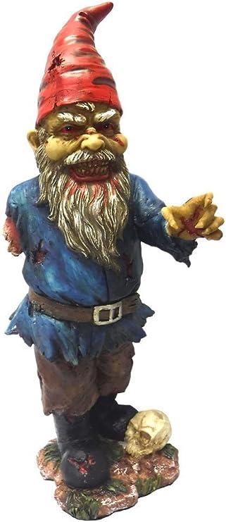 11,75 pulgadas Scary Zombie gnomo de jardín con un brazo y Calavera Estatua: Amazon.es: Hogar