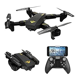 VISUO BEST Drone quadcopter Foldable 2.4GHz 6-Gyro Remote Control Drone 720P HD 2MP 120° Wide Angle Camera ( Altitude Hold Function)