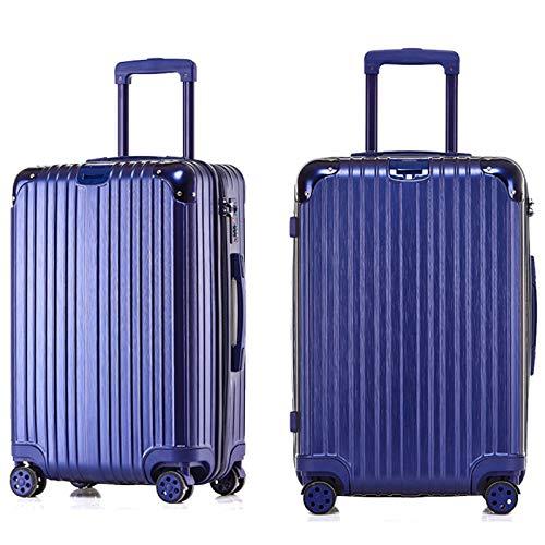 男性と女性のためのトロリーケースジッパースーツケースユニバーサルホイールビジネス搭乗(20/24/26/29インチ) (Color : 青, Size : 24 inch)   B07RH7MH2S