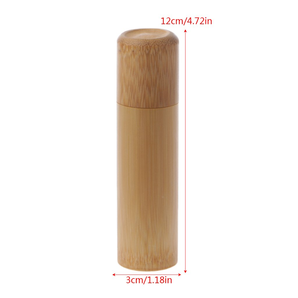 Poity Bamboo Tube Tea Box Airtight Small Container Spices Storage Jar with Lid 4 Size-01