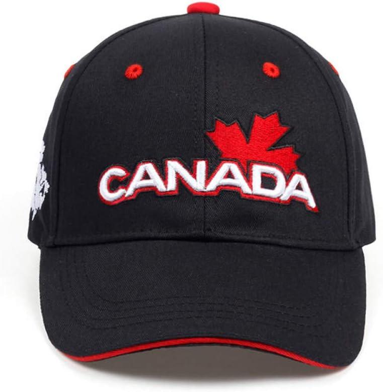 SYQY Gorra de Beisbol Canada Letter Cotton Embroidery Gorras de b/éisbol Sombrero para Hombres Mujeres Leisure Hat Cap