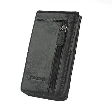 5f61d686c8d1 Amazon.com: Xieben Vertical Leather Waist Bag Mobile Phone Case ...