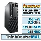 Lenovo ThinkCentre M81 SFF/Core i5-2400 Quad @ 3.1 GHz/12GB DDR3/2TB HDD/DVD-RW/WINDOWS 10 HOME 64 BIT