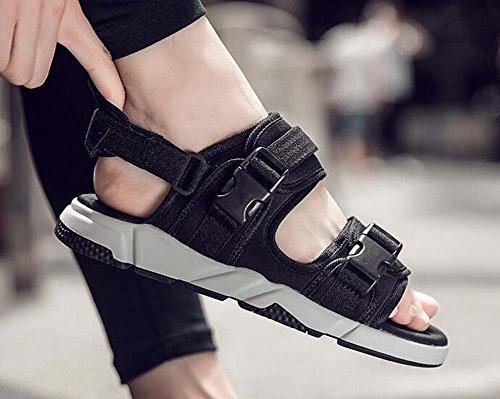 Desmontable Zapatillas 44 Tamaño Negro de Joker Gris Doble 39 Sandalias de Hombres Uso Sandalias Negro los Moda Ot8qZwS1Fx