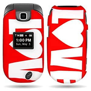 CoverON(TM) Hard Cover Case with RED LOVE DESIGN for LG VN150 REVERE 2 With PRY- Triangle Case Removal Tool