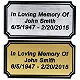 Customized Engraved Plaque Gold or Silver Name Plate Custom Engraving