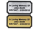 Customized Engraved Plaque Gold or Silver Name