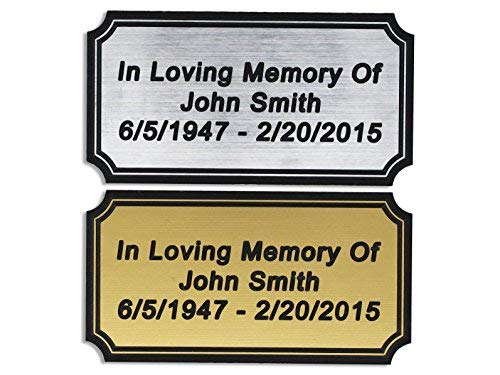 (Customized Engraved Plaque Gold or Silver Name Plate Custom Engraving)