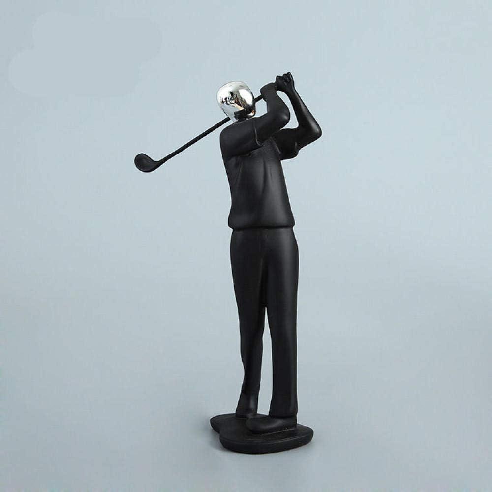 LIUSHI Craft Modern Abstract Sculpture Sport Baseball Player Baseballer Figure Model Statue Art Carving Resin Figurine Home Decorations-Golf_Player
