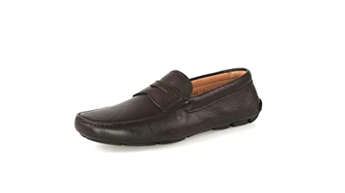 Prada - Mocasines de Piel para Hombre Marrón Caffe: Amazon.es: Zapatos y complementos