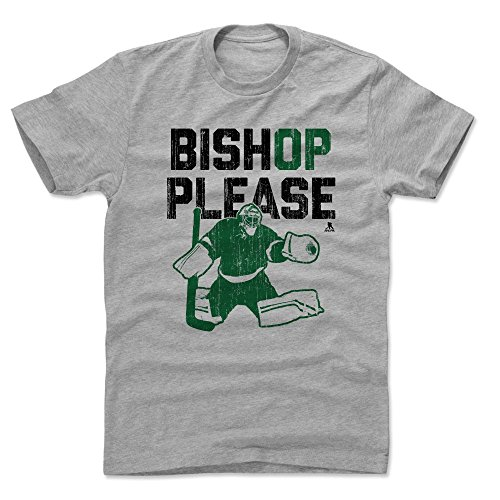 - 500 LEVEL Ben Bishop Cotton Shirt (Large, Heather Gray) - Dallas Stars Men's Apparel - Ben Bishop Please G