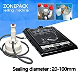 ZONEPACK 110V Handheld Induction Bottle Cap Sealer Microcomputer Based Electromagnetic Induction Sealing Machine For Medical Industry Chemical Industry Food Beverage Grease Sealing 20-100mm