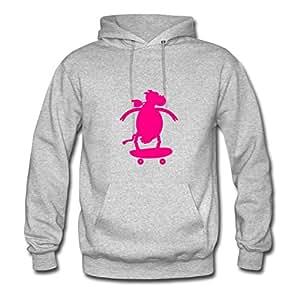 Theresawilkins Grey Custom-made Speacial Popular Cow On Skateboard (1c) Sweatshirts/women Large