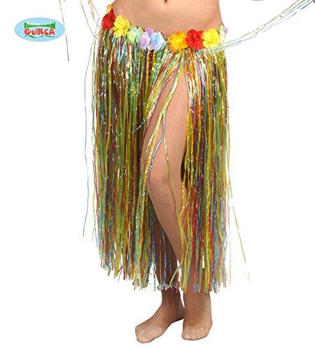 Guirca Falda Hawaiana con Flores en Varios Colores 75 cm: Amazon ...