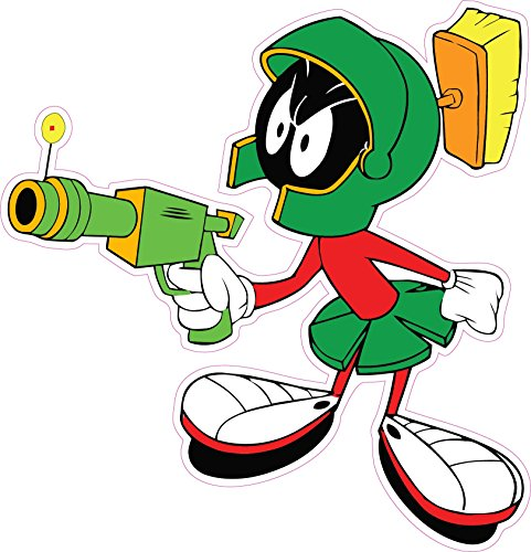 Marvin the Martian Ray Gun Decal is 4