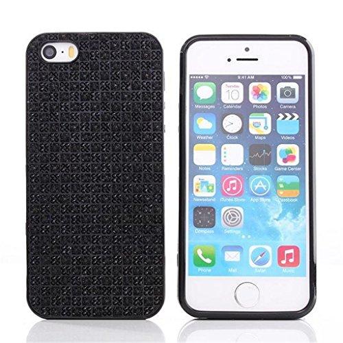 iPhone 5G/5S Hülle, Apple iPhone 5G/5S Hülle Lifetrut® [Schwarz] TPU Case Schutzhülle Silikon Ultradünnen Anti-stoß sehr dünne case