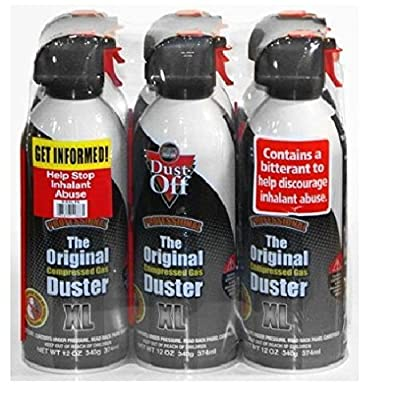 Falcon Dust-Off Professional Compressed Gas 12oz. (6-Pack) by Falcon