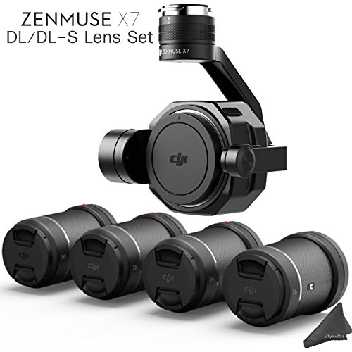 Cheap DJI Zenmuse X7 3-Axis Gimbal & Super 35 Cinema Camera with 4 Lens DL/DL-S Lens Bundle & eDigitalUSA Kit