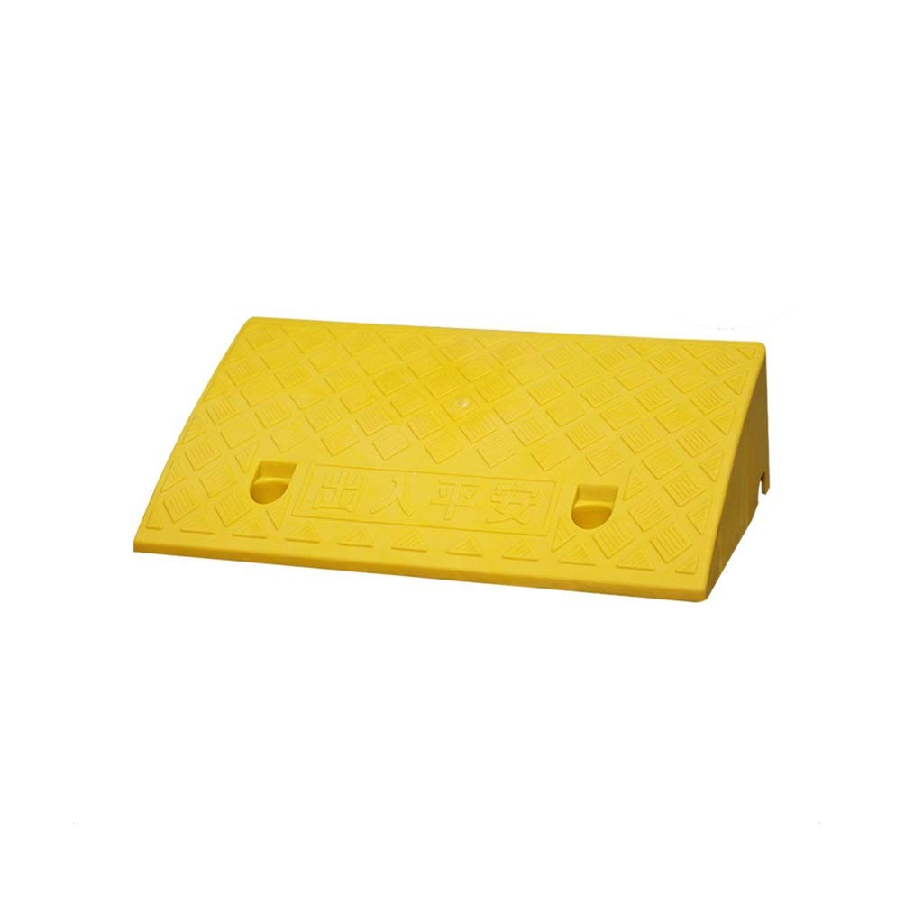11 way bike CSQ Ramps Service Ramps, Portable Doorway Threshold Ramps Villa Parking Lot Safety Ramps Multiple Colour Select Height: 7-17CM Kerb Ramps (Color : Yellow, Size : 502711CM)