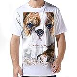 Mens American Bulldog Dog Face 100 Contton Short Sleeves white tshirt.