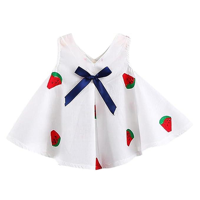 K-youth Vestidos Niña, Verano Vestidos para niña Barata Vestidos bebe niñas Ceremonia Cuello en v Ropa Niña Vestido Infantil Fiesta Niñas Vestido de ...