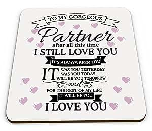 To My Gorgeous Pareja I Love You taza brillante posavasos