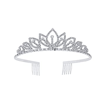 Wedding Bridal Tiara w// Comb Rhinestones Crystal Headband Pageant Princess Crown