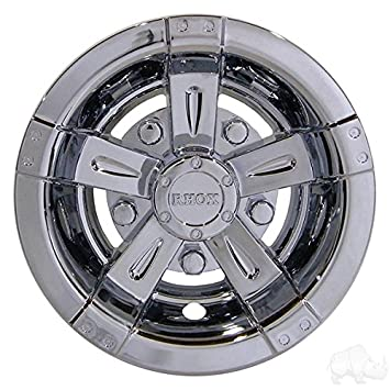 Image Unavailable. Image not available for. Color  RHOX 10 quot  Vegas Chrome  Golf Cart Wheel Covers Hub Caps - (Set of 2840216554d8