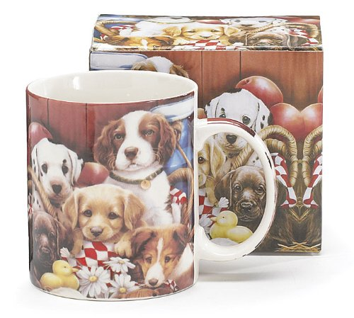 Adorable Puppy/Dog Coffee Mug/cup Great Inexpensive Gift For Dog Lovers