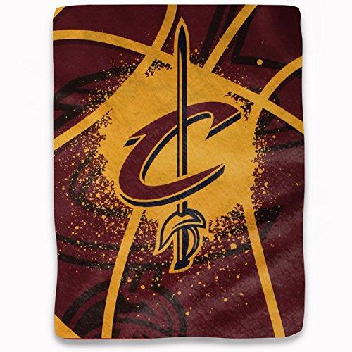 NBA Licensed Jersey Royal Plush Raschel Fleece Shadow Throw Blanket (Cleveland Cavaliers) ()