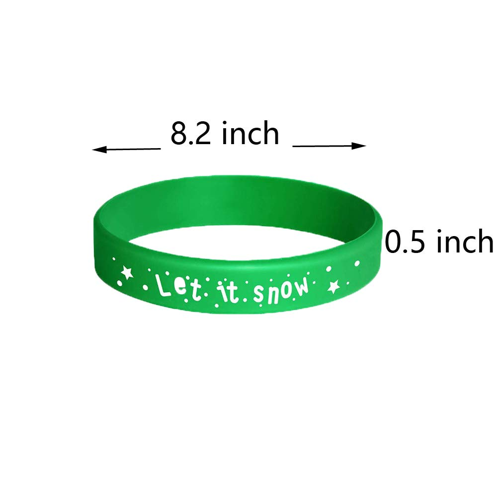 32 Pcs Merry Christmas Silicone Bracelets Party Supplies Games Birthday Party Decorations Party Favors Gifts for Kids Lovfa