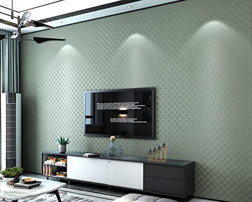 - Feisenbiz Wall Hangings Wallpaper Modern Minimalist Non-Woven Wallpaper 3D Stereo Bedroom Living Room Background Pure Color