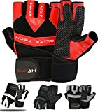 EMRAH Genuine Leather Weight Lifting Gloves Gym Body Building Cross Training Gloves Fitness