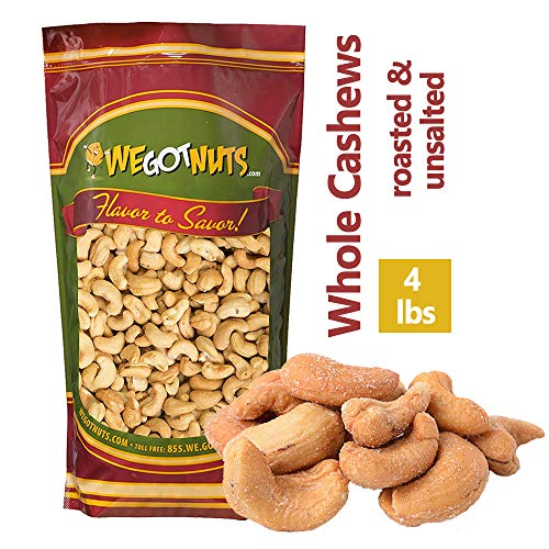 (Roasted Unsalted Cashews ~ 4 Lb. - We Got Nuts)