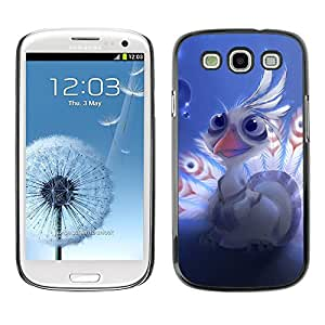Slim Protector Shell Hard Case Cover for Samsung Galaxy S3 I9300 Lord shen peacock Cute / STRONG