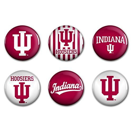 WinCraft NCAA Indiana University WCR90385012 Round Button (6 Pack), 2