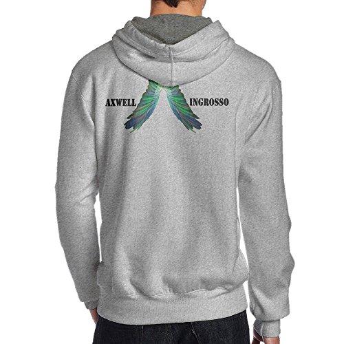 TYEJML Axwell Ingrosso Men's Pullover Hoodie Sweatshirts L Ash (Tennis Player Costumes)