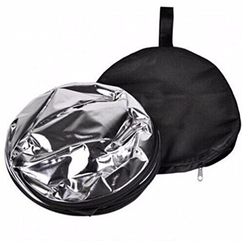 Yellow Jackets Rear Window (5 In 1 Round Reflector Light Photography Camera Multi Collapsible Disc Reflector 43 Inch 110 CM)