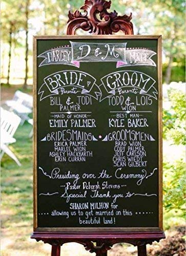 Amazon com large wedding chalkboard rustic wedding chalkboard