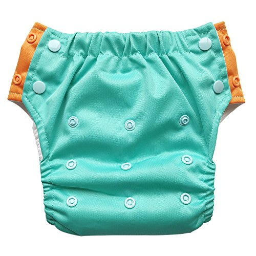 EcoAble Toddler Convertible 3-in-1 Cloth Diaper Hybrid w/Pocket & Insert:...