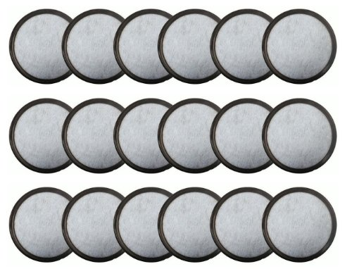 Charcoal Water Filter Replacement for Mr Coffee 113035-001-000 WFF Coffeemaker Pack of 18 (Water Disk Pitcher)