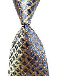 Hot Men's Ties 100% Silk Tie Woven Slim Necktie Jacquard Neck Ties