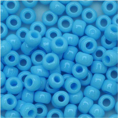 Toho Beads Treasure (Toho Round Seed Beads 6/0#43 'Opaque Blue Turquoise' 8 Gram Tube)