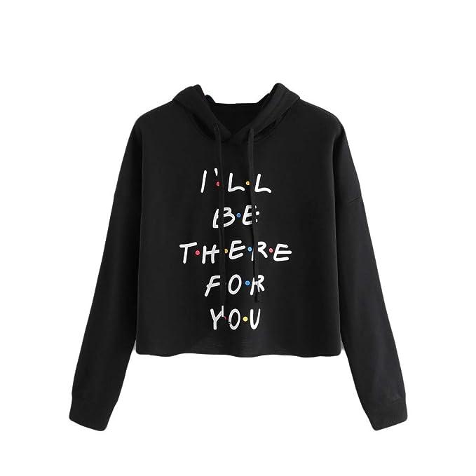 Sudadera Mujer, Lenfesh I ll BE There FOR You Sudadera para Mujer, Hoodie Sweatshirt con Capucha Otoño Invierno Casual Top: Amazon.es: Ropa y accesorios