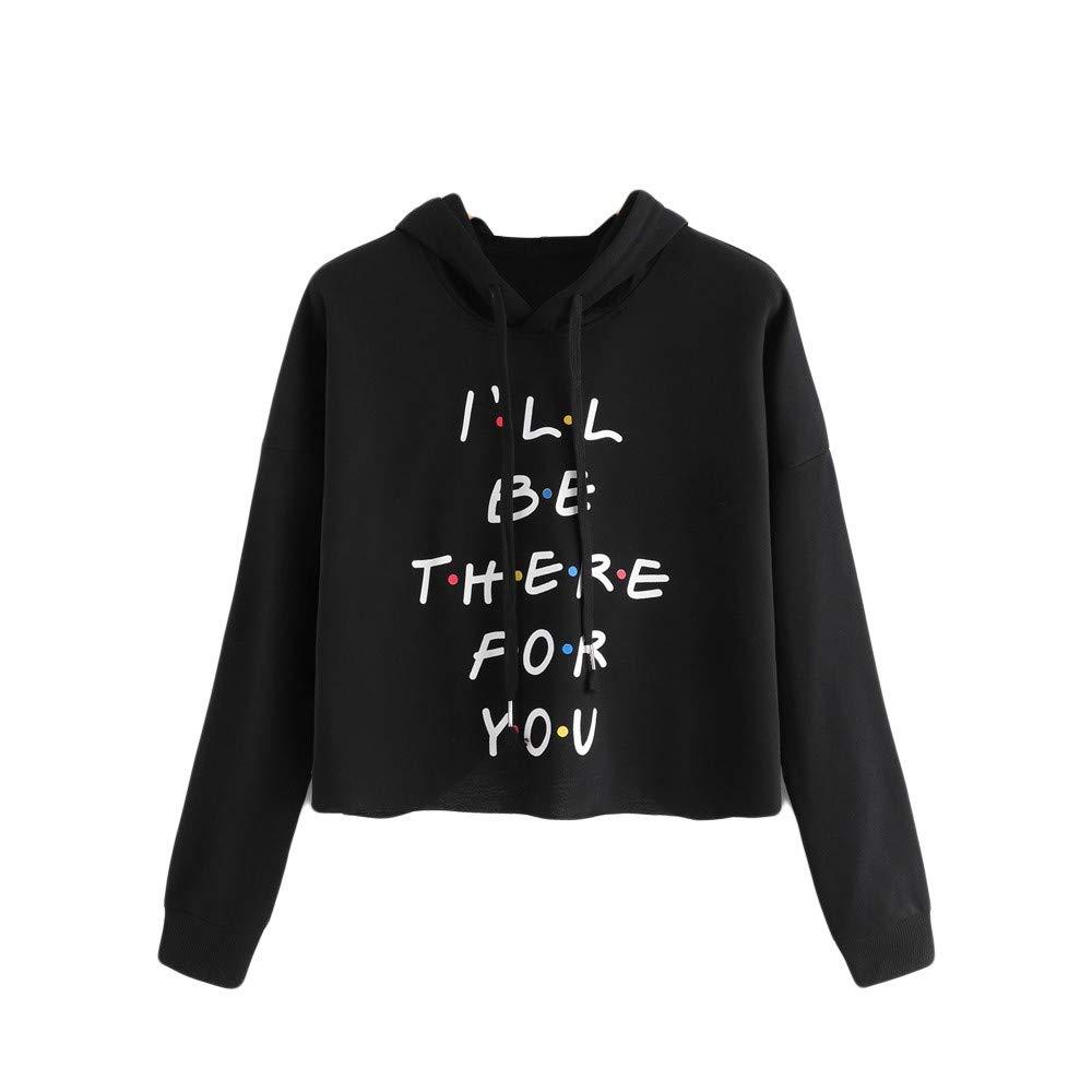 Makeupstore Sweatshirts for Women Hoodie Pullover,Women's Long Sleeve Letter Print Drawstring Hoodie Raglan Sweatshirt,Fashion Hoodies & Sweatshirts,Black,S