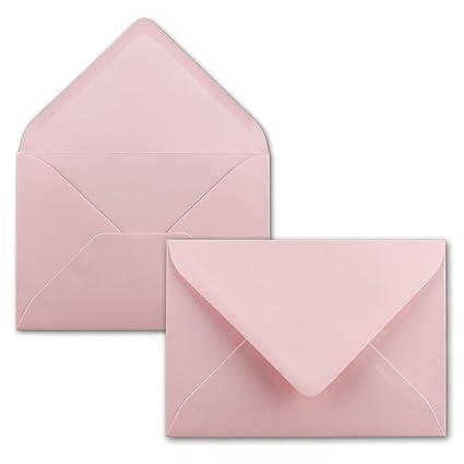 50 St/ück Serie FarbenFroh/® Weihnachten Nassklebung ohne Fenster DIN C5 Kuverts 22,0 x 15,4 cm Gru/ßkarten Brief-Umschl/äge in Dunkelrot