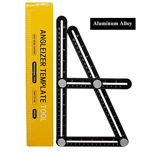 ValueHall Angle Measuring Ruler Aluminum Alloy Multi Angleizer Template Tool for Craftsmen, Builders & Handymen Angle Finder V7035-2