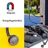 2 Pack Set Magnetic Flexible Gooseneck Metal with